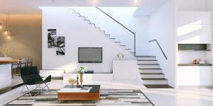 thiết kế cầu thang dọc nhà 1